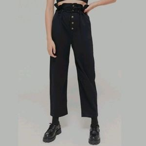 URBAN OUTFITTERS Terra High-Waisted Button-Front Paperbag Pants XS